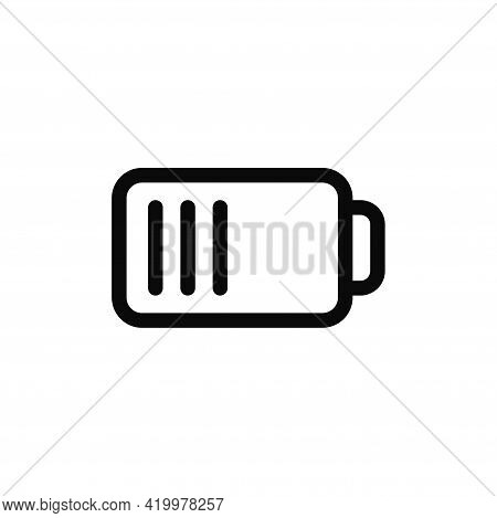 Battery Icon Isolated On White Background. Battery Icon In Trendy Design Style For Web Site And Mobi