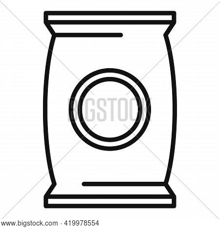 Plant Soil Pack Icon. Outline Plant Soil Pack Vector Icon For Web Design Isolated On White Backgroun
