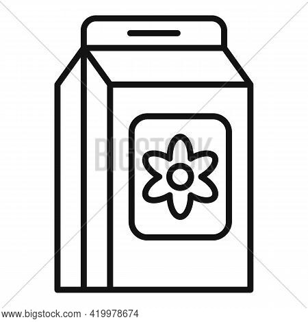 Flower Compost Icon. Outline Flower Compost Vector Icon For Web Design Isolated On White Background