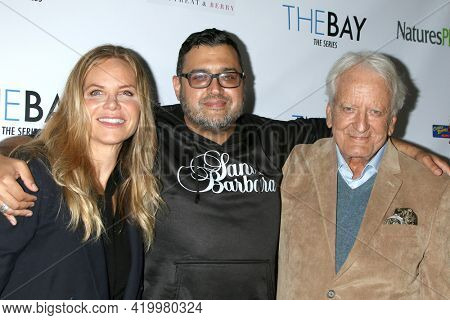 LOS ANGELES - MAY 8:  Carrington Garland, Gregori  J Martin, and Nicolas Coster at the The Bay's  Season Finale Screening at the Private Residence on May 8, 2021 in Los Angeles, CA