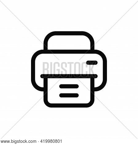 Printer Icon Isolated On White Background. Printer Icon In Trendy Design Style For Web Site And Mobi