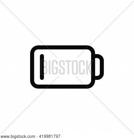 Low Battery Icon Isolated On White Background. Low Battery Icon In Trendy Design Style For Web Site