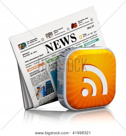 Internet news and RSS concept