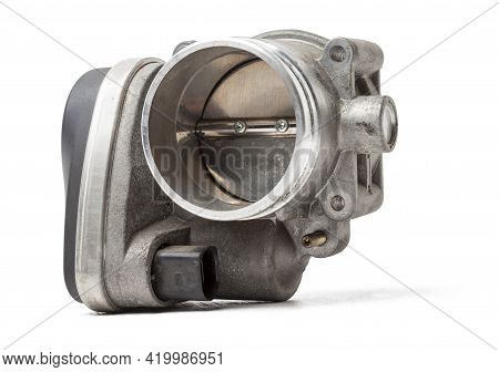 Car Part Engine Throttle Valve Opened By The Gas Pedal To Supply More Air To The Engine. Spare Parts