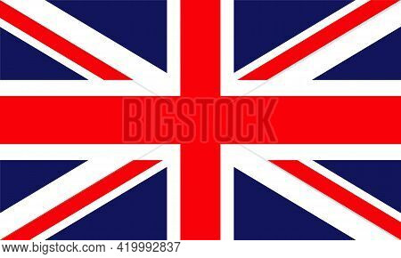 United Kingdom Flag Vector Isolated On Transparent Background. The Uk Flag Is Also Known As The Unio