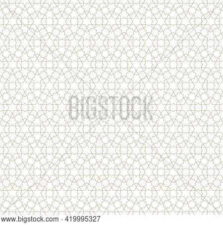 Seamless Geometric Ornament Based On Traditional Islamic Art.brown Color Lines.great Design For Fabr