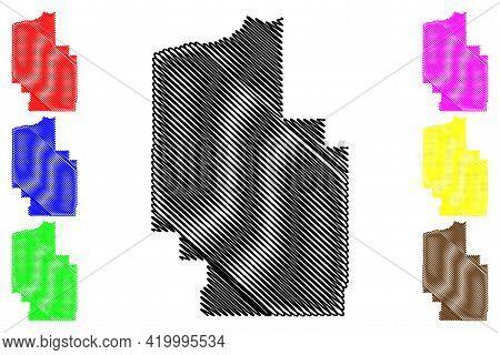 Morrow County, Oregon State (u.s. County, United States Of America, Usa, U.s., Us) Map Vector Illust