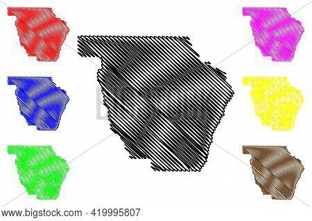 Wallowa County, Oregon State (u.s. County, United States Of America, Usa, U.s., Us) Map Vector Illus