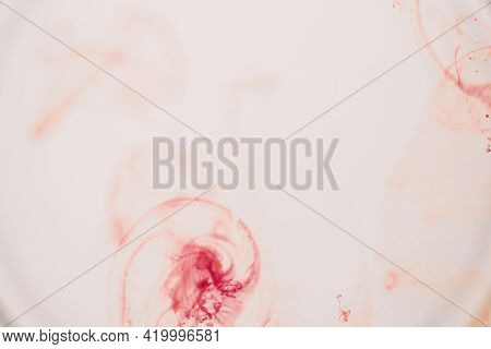 Watercolour Pattern. Abstract Red Paint Watercolor Texture Or Splash Ink Stain For Design Isolated O