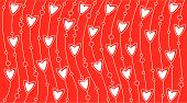 Wallpaper with white hearts and line vector background poster