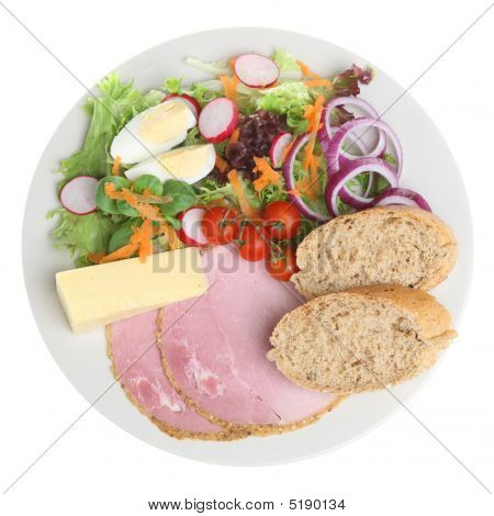 Ploughmans Lunch With Cheddar Cheese