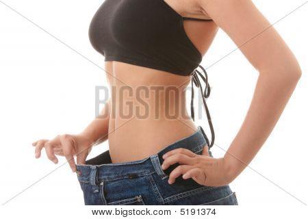 weibliche wurde Skinny und in alten jeans
