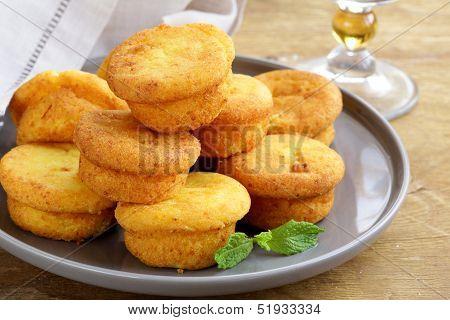 cheese mini muffins with pumpkin and orange
