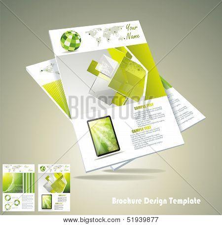 Magasine or brochure design element vector illustartion
