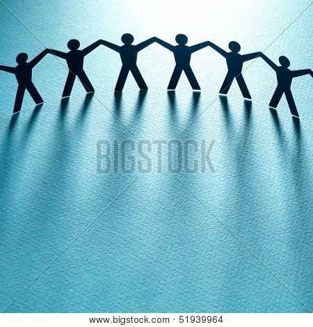 Group of people holding hands. Teamwork concept poster