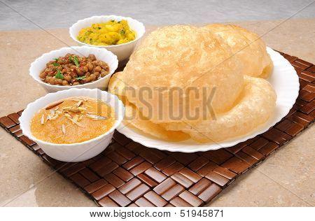 Halwa Puri Breakfast