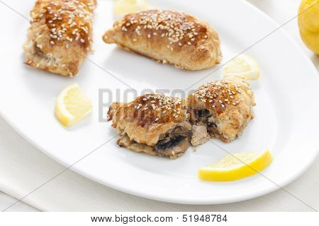 puff pockets filled with tuna