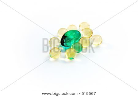 Yellow And Green Caplets