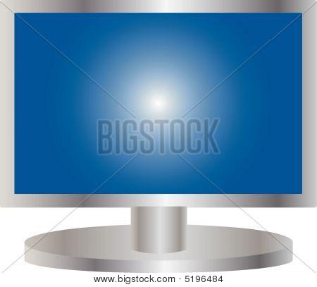 Flat Screen Tv Vector