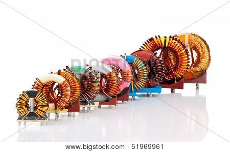 Selection Of Ten Various Industrial Toroidal Choke Coils