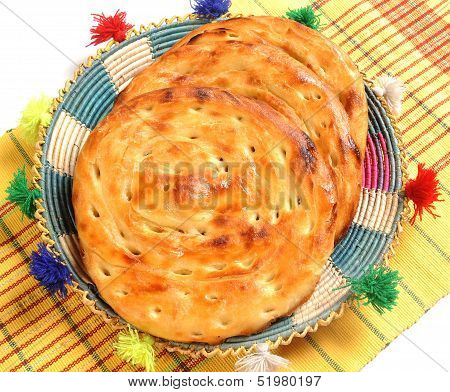 Lacha Paratha on Traditional Indian Dish