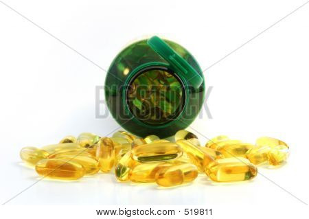 Front Close Up Of Fish Oil Caplet