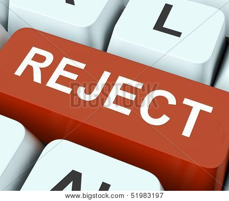 Reject Key Means Decline Or Deny.
