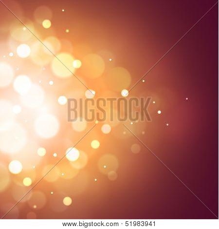 Festive background with defocused lights - eps10