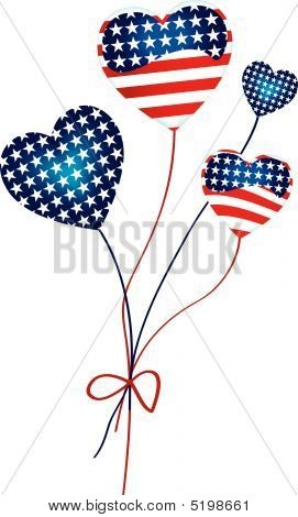 American Hearts Balloons