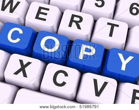 Copy Key Shows Copying Duplicating Or Replicate.