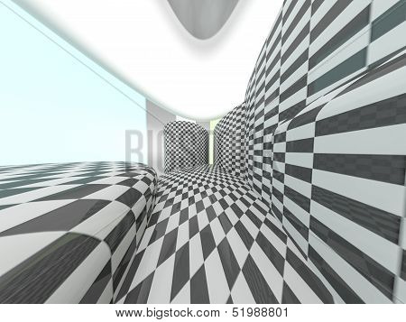 Checkered Stage Background