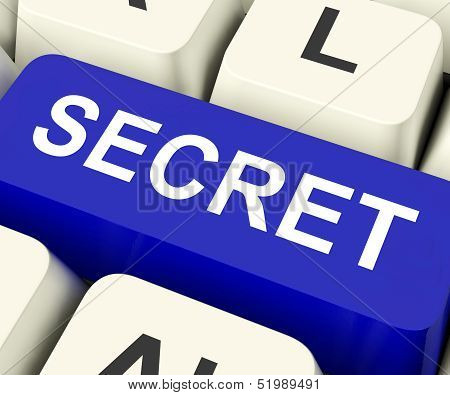 Secret Key Means Confidential Or Discreet.