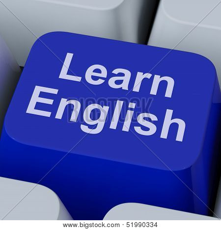 Learn English Key Showing Studying Language Online poster