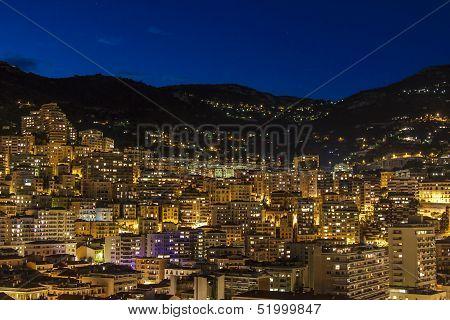 The Principality of Monaco , night view