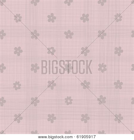 Geometric Pink Seamless Background With Fabric Texture.