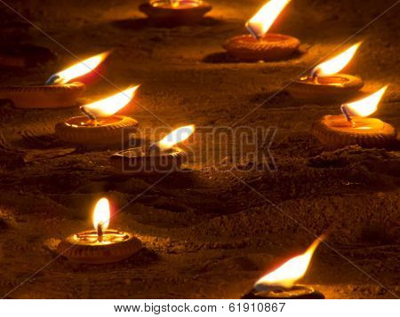 Candle On Ground