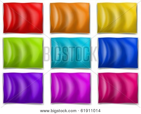 Illustration of the colourful flags on a white background