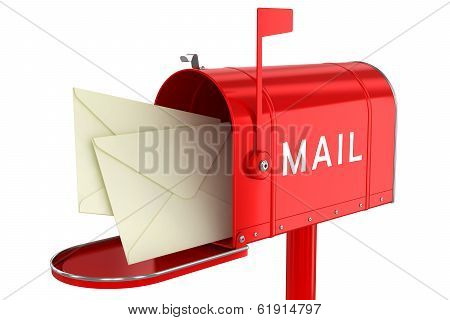 Letters In An Open Mailbox