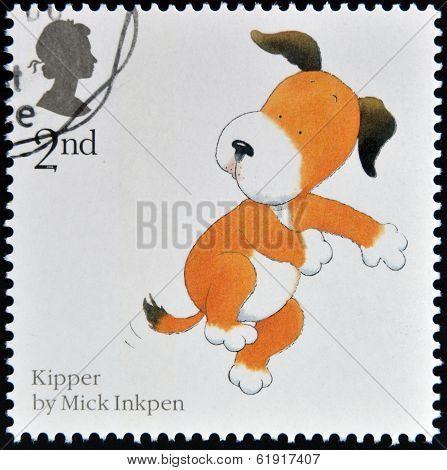 UNITED KINGDOM - CIRCA 2006: A stamp printed in Great Britain shows Mark Inkpen's 'Kipper'