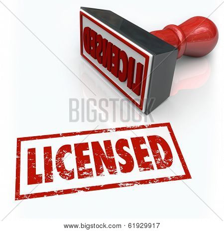 Licensed Stamp Official Approved Authorization