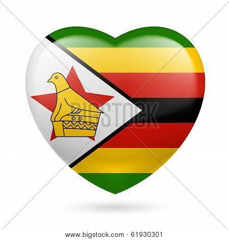 Heart icon of Zimbabwe