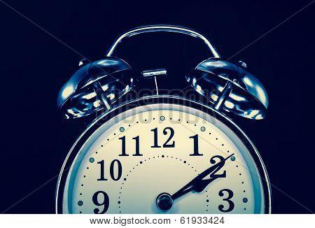 retro alarm clock ,concept  insomnia