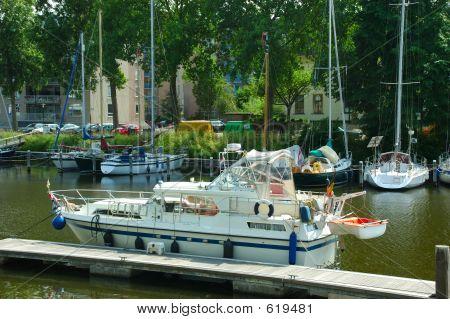 Moored Yacht.