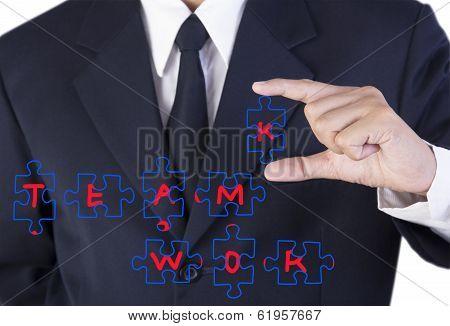 Finger Businessman Holding