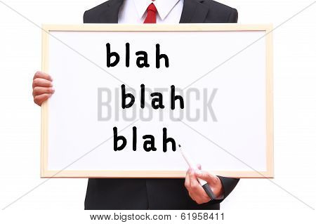 Businessman Showing Idea On White Board