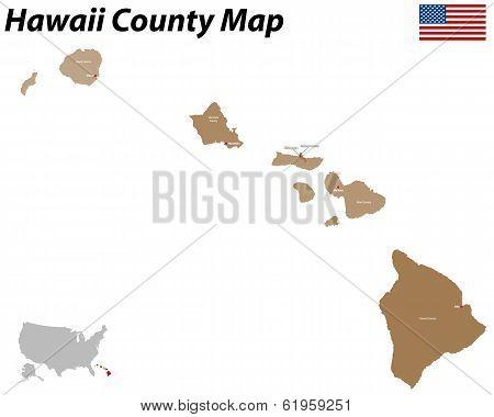 Honolulu County Map