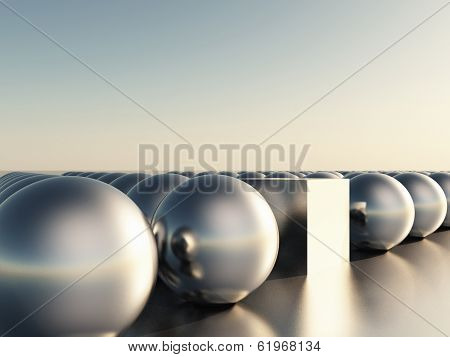 Spheres And Cube
