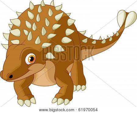 Cute ankylosaurus cartoon