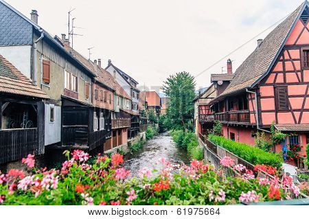 View of Alsace traditional houses