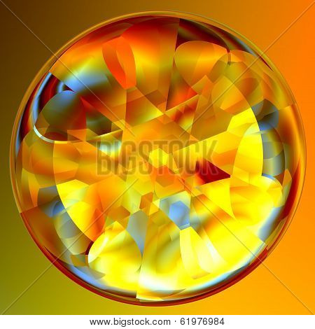 Abstract Lucent Illuminated Fortune Teller Crystal Ball poster